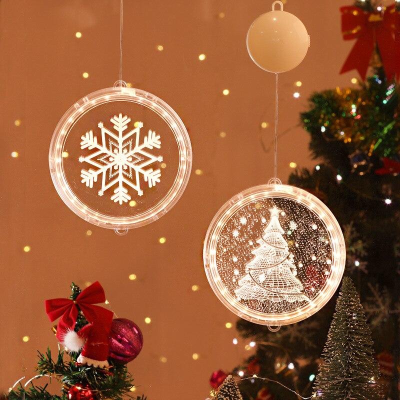 Хорошие Рождественские огни, 3D подвесные огни, украшение для комнаты, моделирование спальни, праздничное украшение, окно, звезда, гирлянда