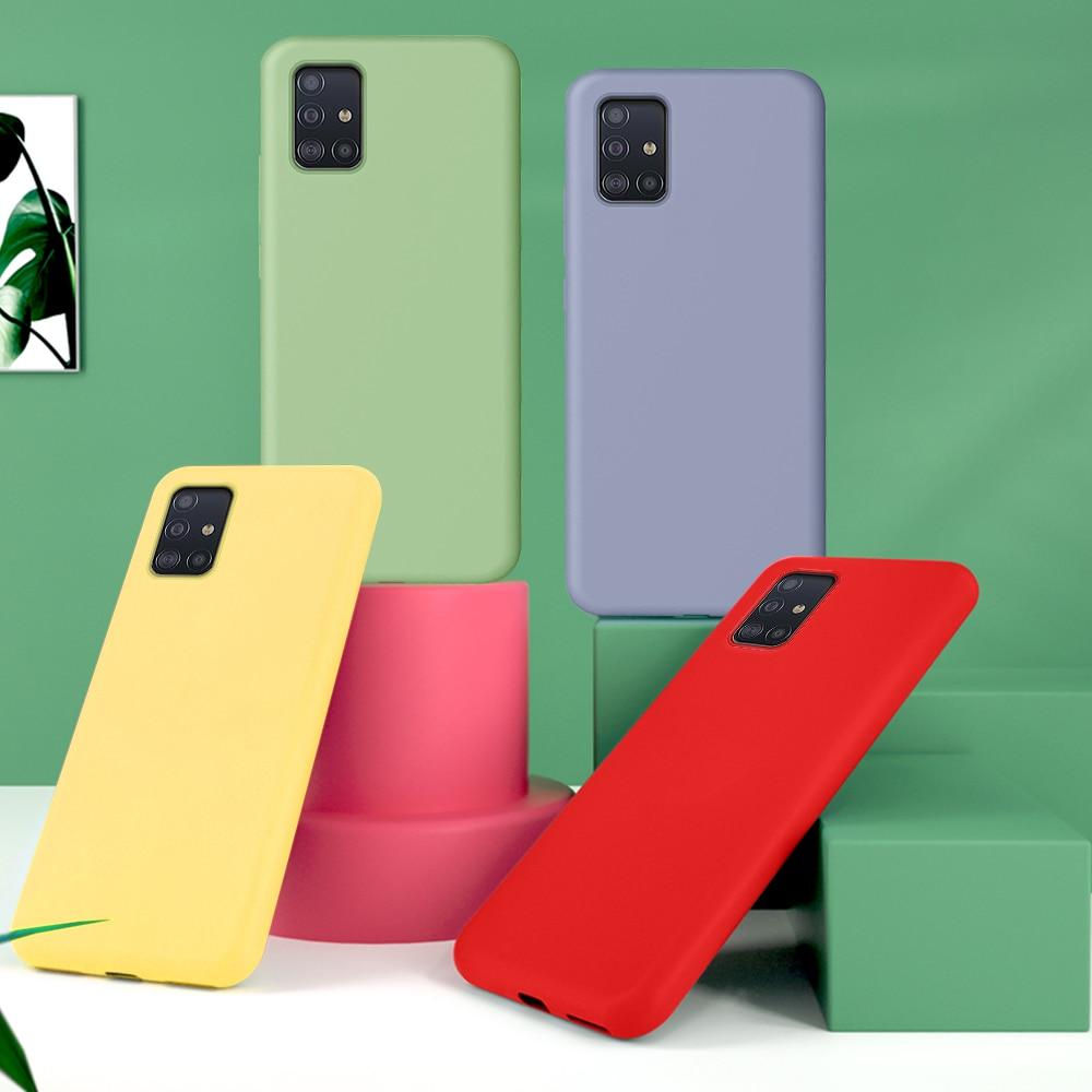 KISSCASE, funda de silicona líquida Original para Samsung Galaxy A71 A51, funda trasera suave para Samsung S20 Ultra S20 Plus S20 Coque