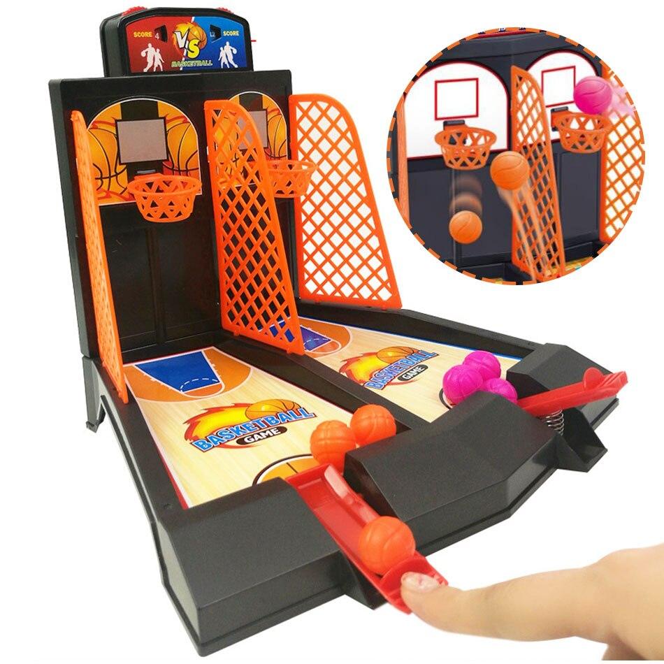 Mini canasta para dedos de escritorio para juegos de baloncesto, mesa de tiro deportiva, mesa de batalla, tablero de rompecabezas divertido, juegos de fiesta, juguetes para niños
