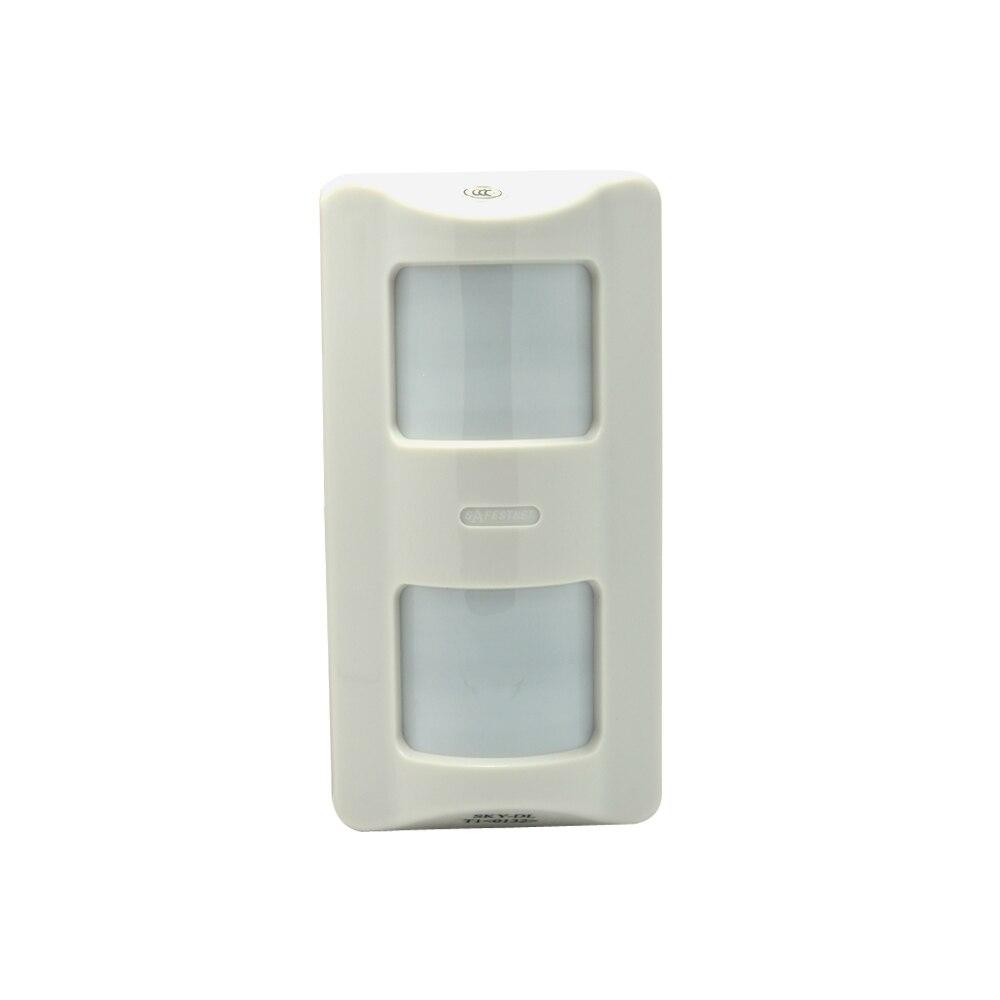 1 pces com fio ao ar livre sensor de movimento infravermelho auto defesa pir alarme 3 sensor infravermelho alarme de intrusão nc sem opções de saída de relé