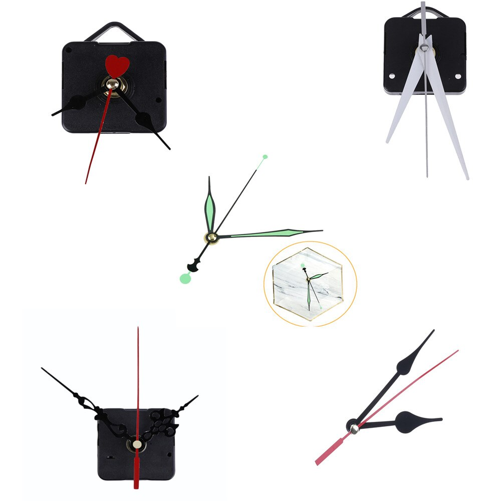 Silent Wall Clock Quartz Needle Movement Black and Red Hands DIY Replacement Part Repair Kit Tool Set Clock Mechanism