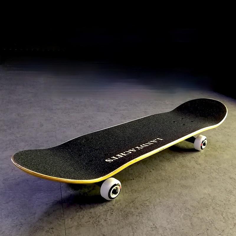 Professional Beginners Skateboard Hardware Double Rocker Wear Resistant Skateboard for Adults Lija Skate Sports Equipment DK50SB
