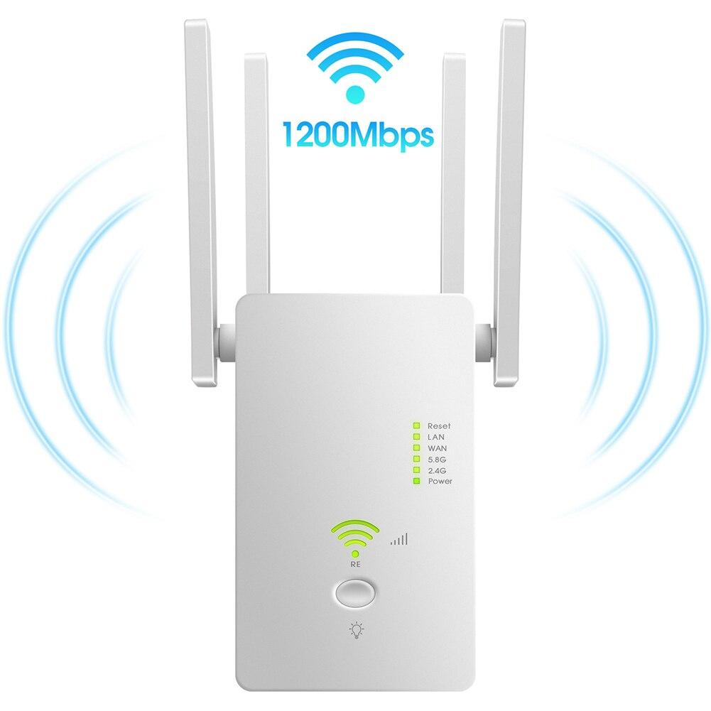 Extensor de señal WiFi, amplificador de señal de banda Dual AC1200, extensor...