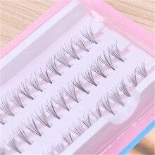 60pcs/Set Good Individual Black 5D 6D Natural Fake False Eyelash Long Cluster Extension Makeup Beaut