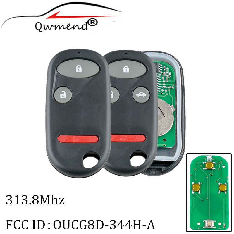 OUCG8D-344H-A Car Remote Key for Honda Element 2005-2011 CRV 2002-2004 Civic 2002-2005 Smart Car Key Fob 313.8Mhz 3/4BUT