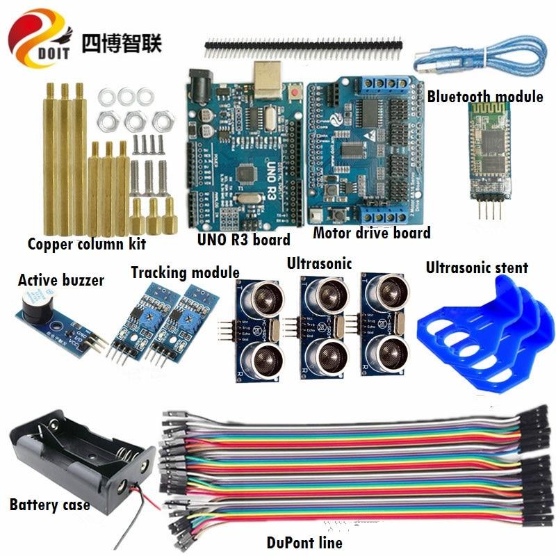 SZDOIT-طقم تجنب العقبات الأوتوماتيكي ، طقم التحكم في بلوتوث بالموجات فوق الصوتية ، التتبع التلقائي لخزان روبوت RC/أجزاء هيكل السيارة