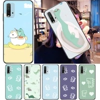 cute flowers couples dinosaur funny color painting phone case for xiaomi redmi 9 pro 9c 9a 9t back cover soft tpu carcasa cases