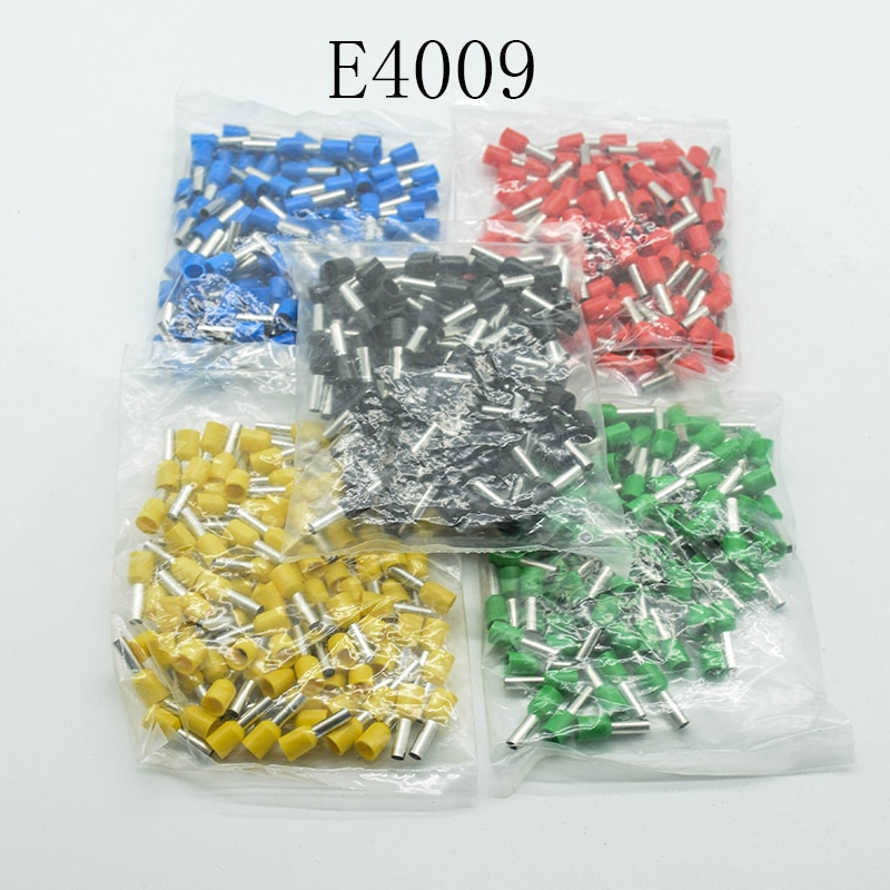 100PCS/Pack E4009 Tube insulating terminals 4MM2 Cable Wire Connector Insulated Insulating Crimp Terminal Connector