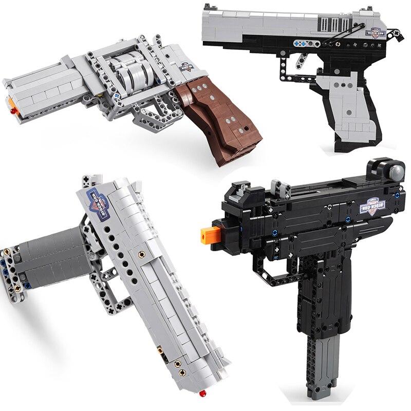 Técnica arma pistola desert eagle m23 modelo compatível swat militar polícia arma construção blockstoys para crianças meninos presentes