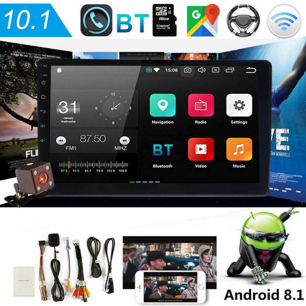Kit multimídia automotivo com android 8.1, android, 2 din, rádio, vídeo player, 10.1 polegadas, touch screen, mp5 player, wi-fi, bluetooth, gps áudio áudio