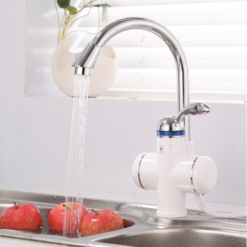 W818-6, 220V calentador de agua instantáneo 220v 3000W grifo eléctrico calentador de agua sin tanque, grifo de agua de calefacción eléctrica rápida