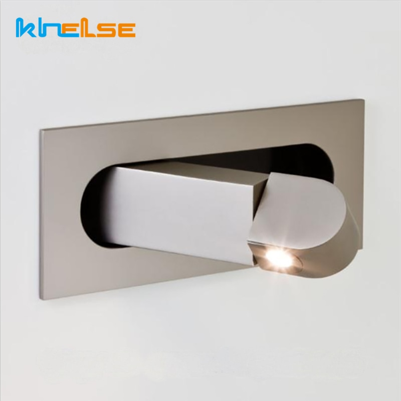 AliExpress - Nordic Embedded LED Wall Lights Angle Adjustable Folding Indoor Reading Sconces Lamp Bedroom Bedside Study Wall Lights Fixtures