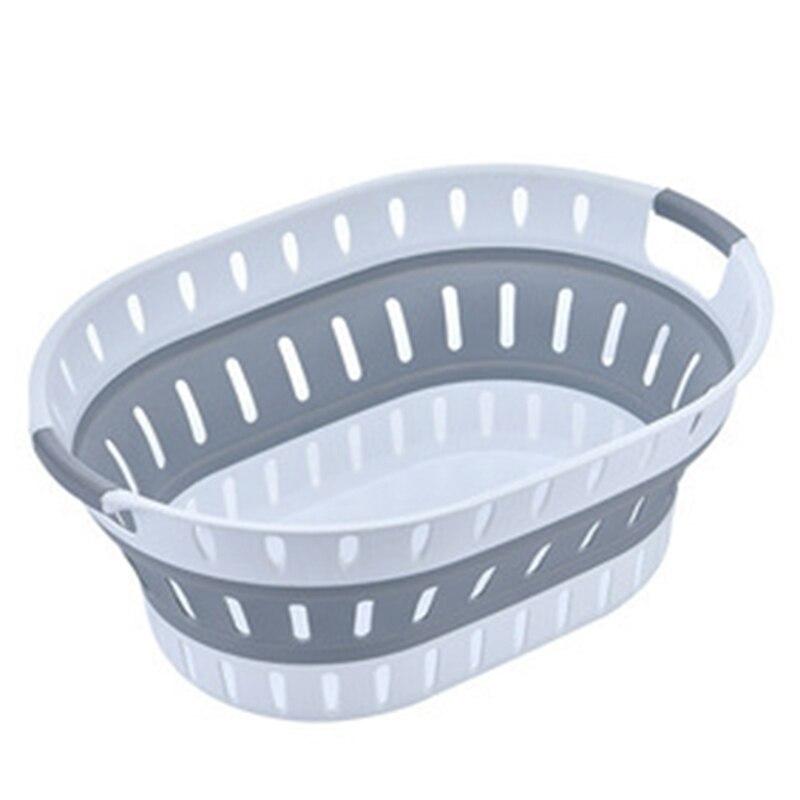طوي سلة الغسيل الحمام البلاستيك المنزلية التخزين المنظم الملابس القذرة المسكن سلة الغسيل
