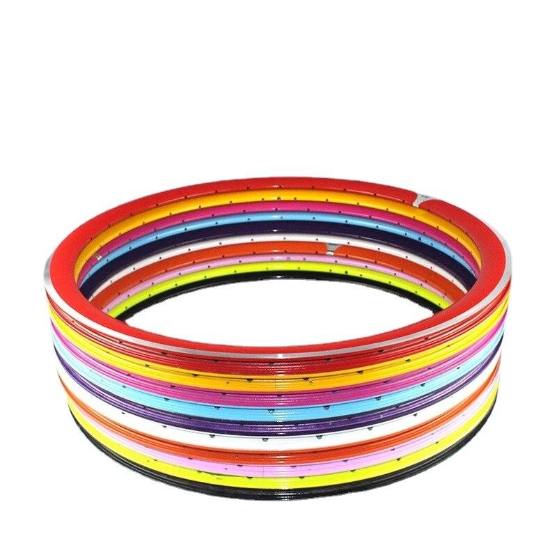 حافة ملونة 700C 30/43 مللي متر حافة سكين كبير ، سبائك الألومنيوم حافة مزدوجة/ثلاث طبقات ، الفم الفرنسي