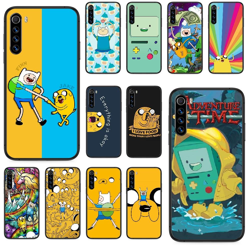 Чехол для телефона adventure time Beemo BMO Jake Finn для Xiaomi Redmi Note 4A 4X 5 6 6A 7 7A 8 8A 4 5 5A 8T Plus Pro, черный чехол класса люкс