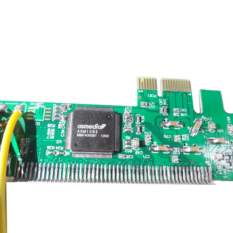 Neue PCI Express PCI-E zu PCI Adapter Karte Asmedia 1083 Chipset Grün AC385 AS99