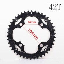 104BCD 32/42T Chainring Mountain Bike MTB Chainwheel 50# Hard Steel 8/9/24/27S Bicycle Parts Crankset Plate