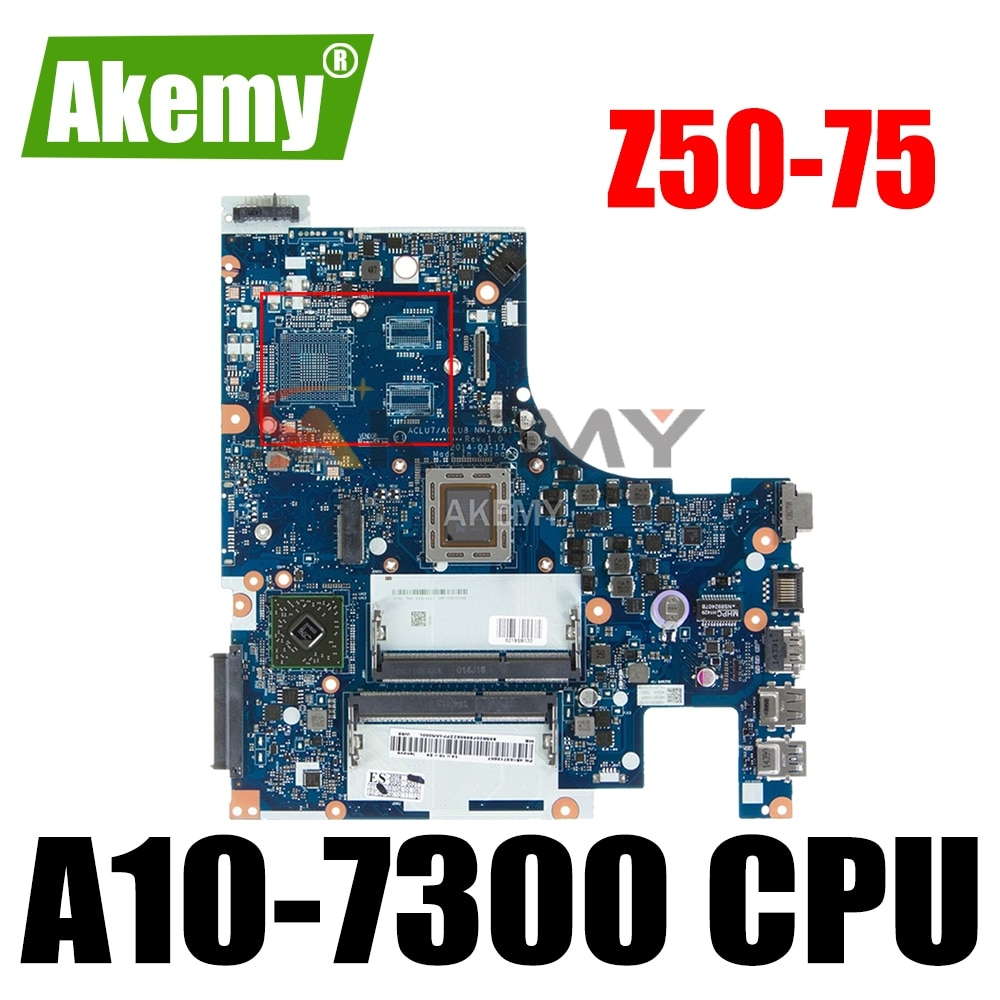 ACLU7/ACLU8 NM-A291 اللوحة لينوفو Z50-75 G50-75M G50-75 اللوحة المحمول (ل AMD A10-7300 CPU) اللوحة الأم اختبار