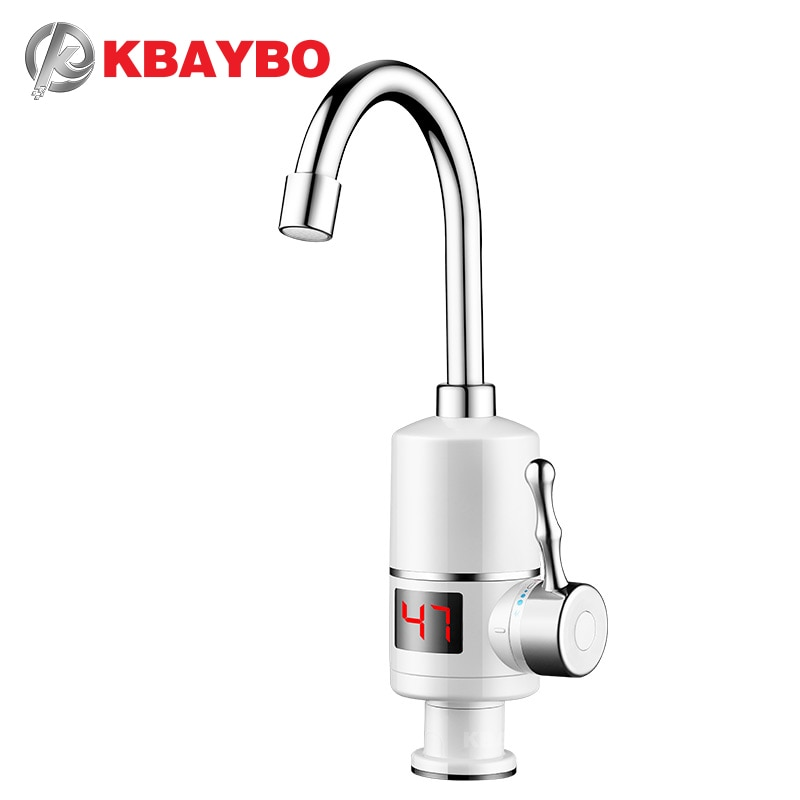 heater Tankless hot heating water tap Bathroom Kitchen Water Faucet KBAYBO Electric Water Heater 3000W instant water
