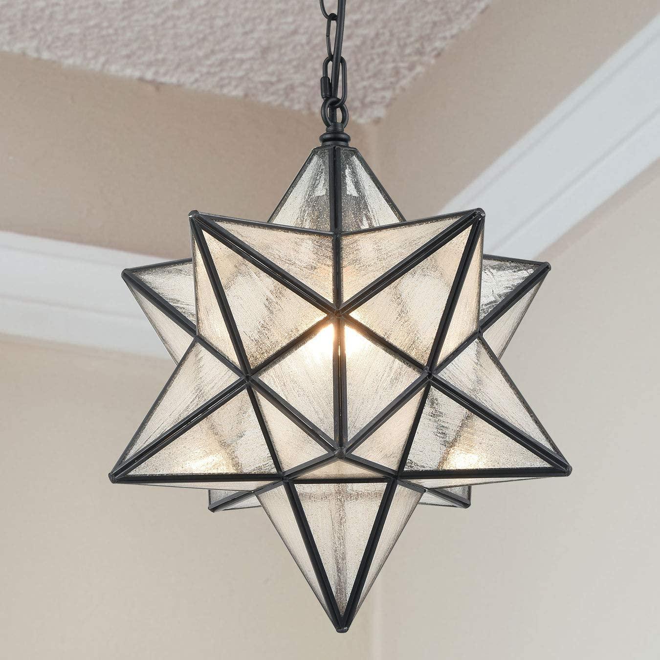 Lámpara colgante moderna con forma de estrella Morava, luces elegantes de gran estrella de cristal para cocina, pasillo, dormitorio, Bar, Club, puerta delantera