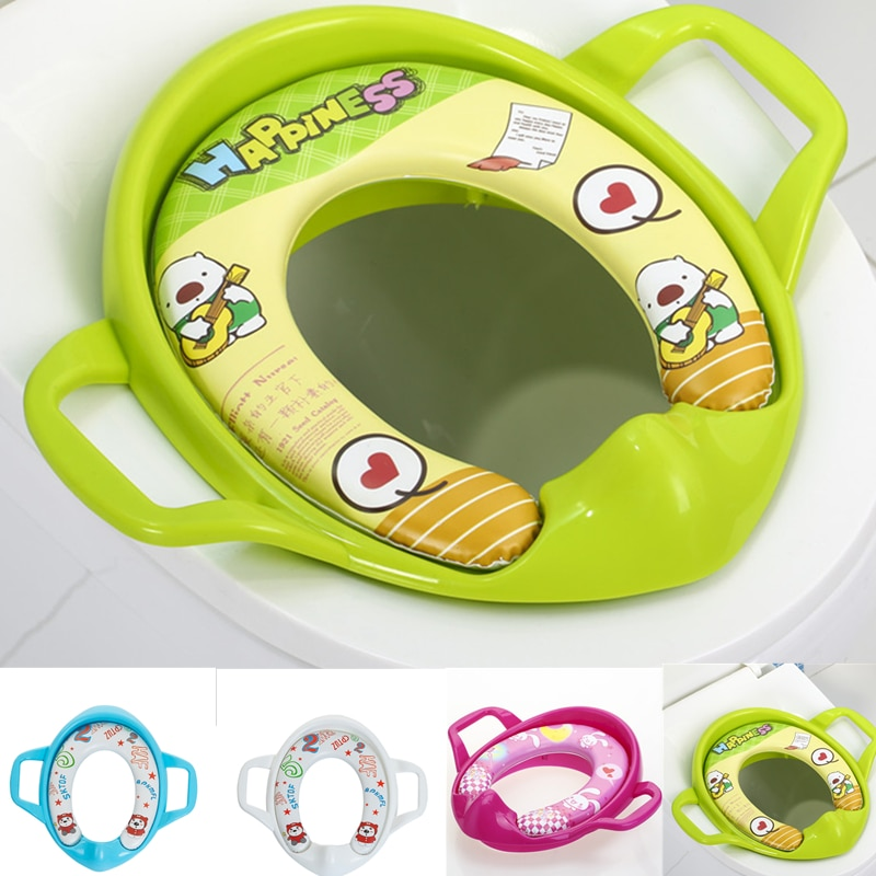 Baby Child Toddler Kids Portable Safety Seats Soft Toilet Training Trainer Potty Seat Handles Urinal Cushion Pot Chair Pad Mat
