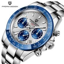 PAGANI DESIGN Sports Chronograph Quartz Watches Relogio Masculino Top Brand Stainless Steel Waterpro