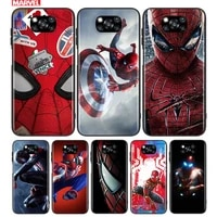 superhero spider man for xiaomi a3 8 9 10 10t note 10 mi 9 9t 10 10t 10i 11 11i lite pro ultra se tpu black phone case
