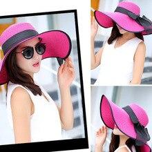 New summer wide Large brim straw hat Holiday Women casual beach hat sun hat Gorras Panama cap Sunscreen