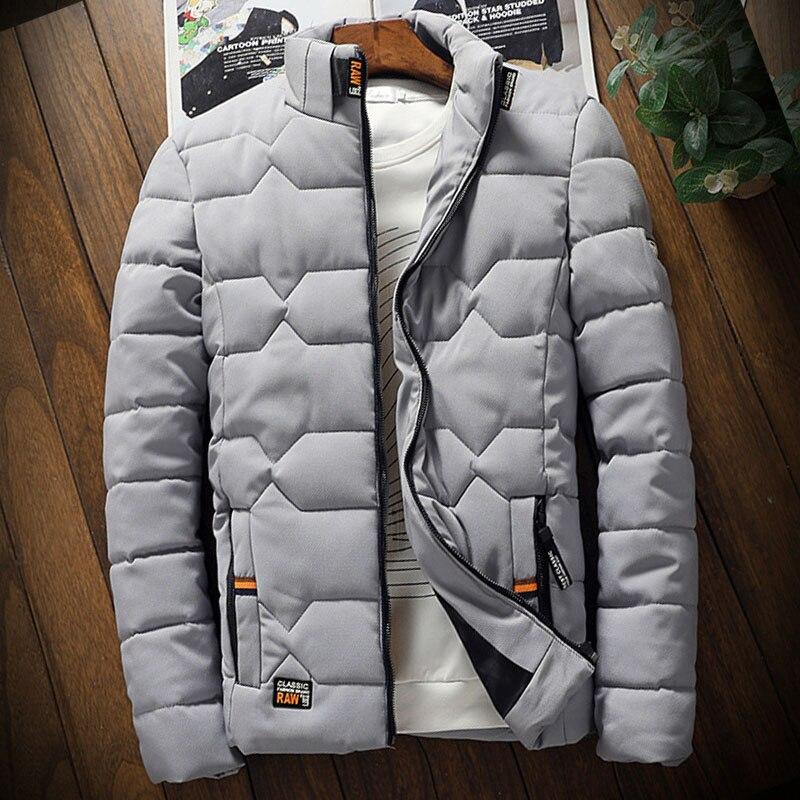 Мужская зимняя куртка, мужские куртки для мужчин, мужская куртка с воротником-стойкой, Молодежная Спортивная одежда, зимняя куртка притален...