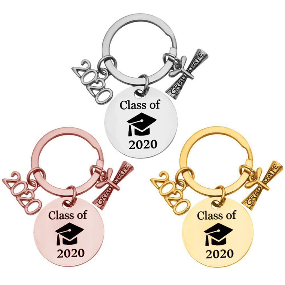 Regalo de graduación, llavero de clase de 2020, llavero resistente de acero inoxidable para escuela secundaria, graduación, cumpleaños