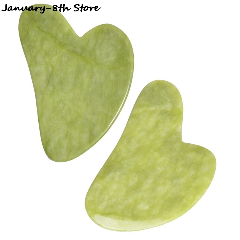 Jade Guasha Massage Board Natural Stone Gua Sha Scraper Beauty Tool Health Care Meridian Scraping Pl