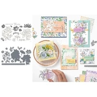 flower metal cutting dies and stamps stencils flower for diy scrapbooking album paper card decorative craft embossing
