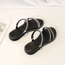Woman Sandals Rome Gladiator Style Sandals Chunky Shoes Non-slip Ladies Casual Fashion Beach Slides