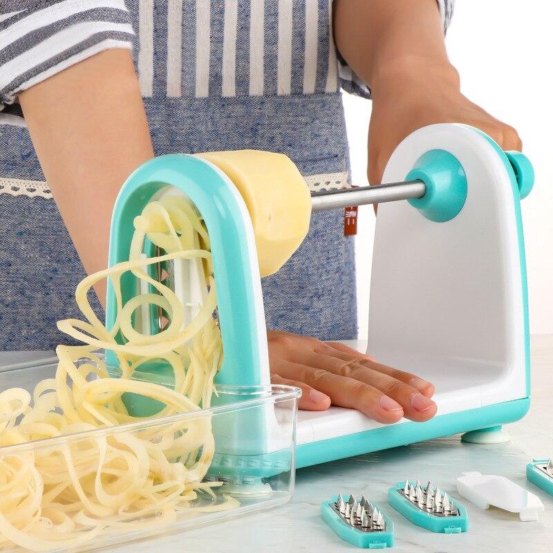 Retalhadora de Batata Cortador de Vegetais Coiler de Flores Cortador de Vegetais de Cozinha Ralador Espiral Manual Multi-função Cozinha de
