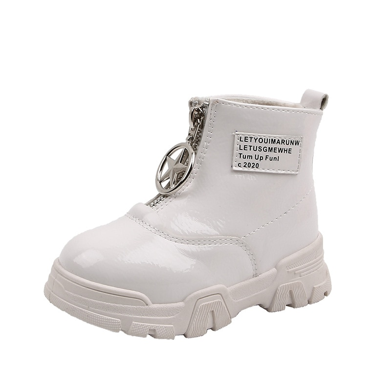 Childrens Martin Boots 2019 Winter New Girls Princess Short Baby Fashion Two Cotton Snow