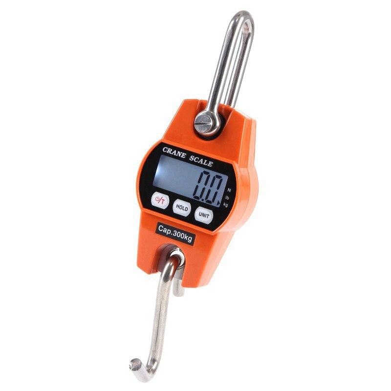 Mini LCD الرقمية 300 كجم المحمولة الصناعية الإلكترونية الثقيلة الوزن هوك رافعة ميزان معلق مقياس وزن المطبخ