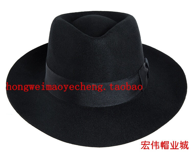قبعة علوية من الصوف للرجال ، مايكل جاكسون ، بلاك شنغهاي بيتش ، رجال ، أداء رقص مسرحي ، قبعة MJ