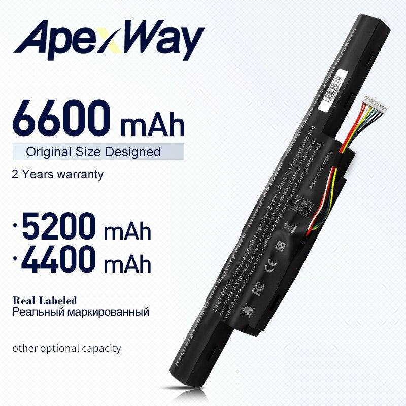 ApexWay 11.1V بطارية كمبيوتر محمول AS16B5J AS16B8J 3INR19/66-2 ل أيسر E5-575G-53VG 5200mAh