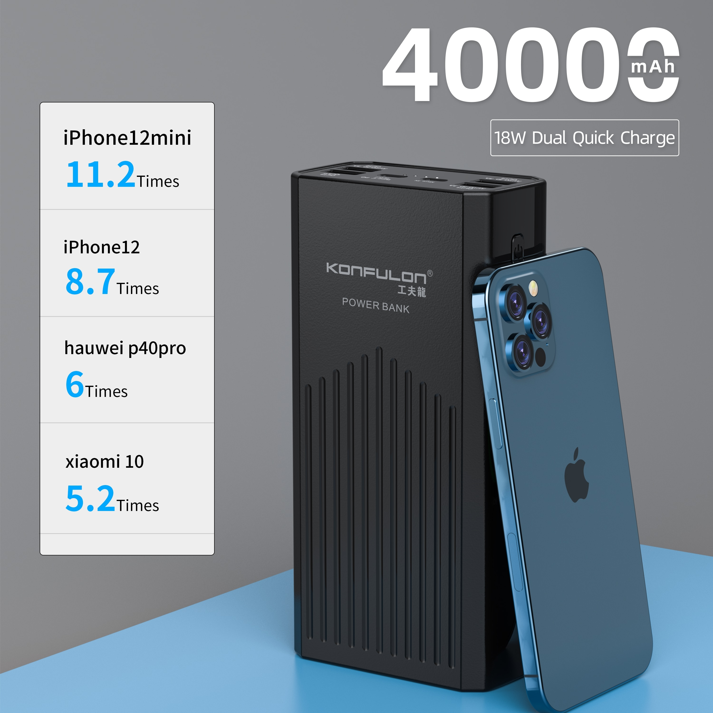 Powerbank 40000 mah QC3.0 18W 40000 Mah Power Bank 12V External Battery For Laptop/Notebook Power Ba