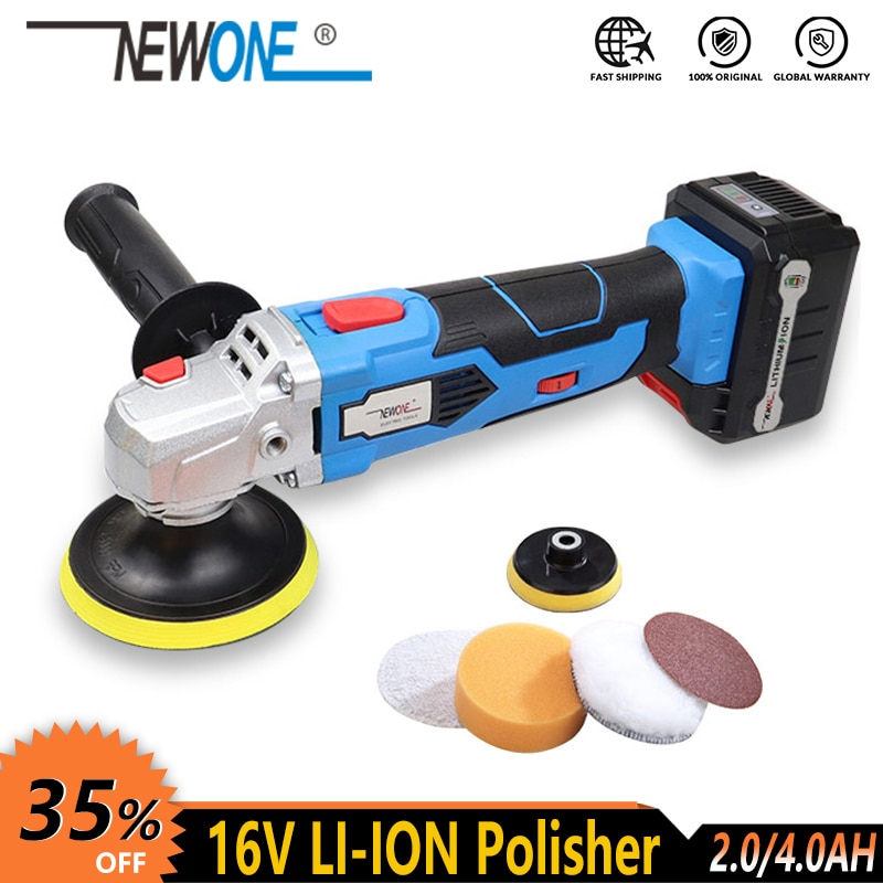 NEWONE 16 فولت أداة كهربائية لاسلكية الملمع سيارة الحذاء ماكينة طلاء الأرضية آلة التنظيف مع ساندر البطارية