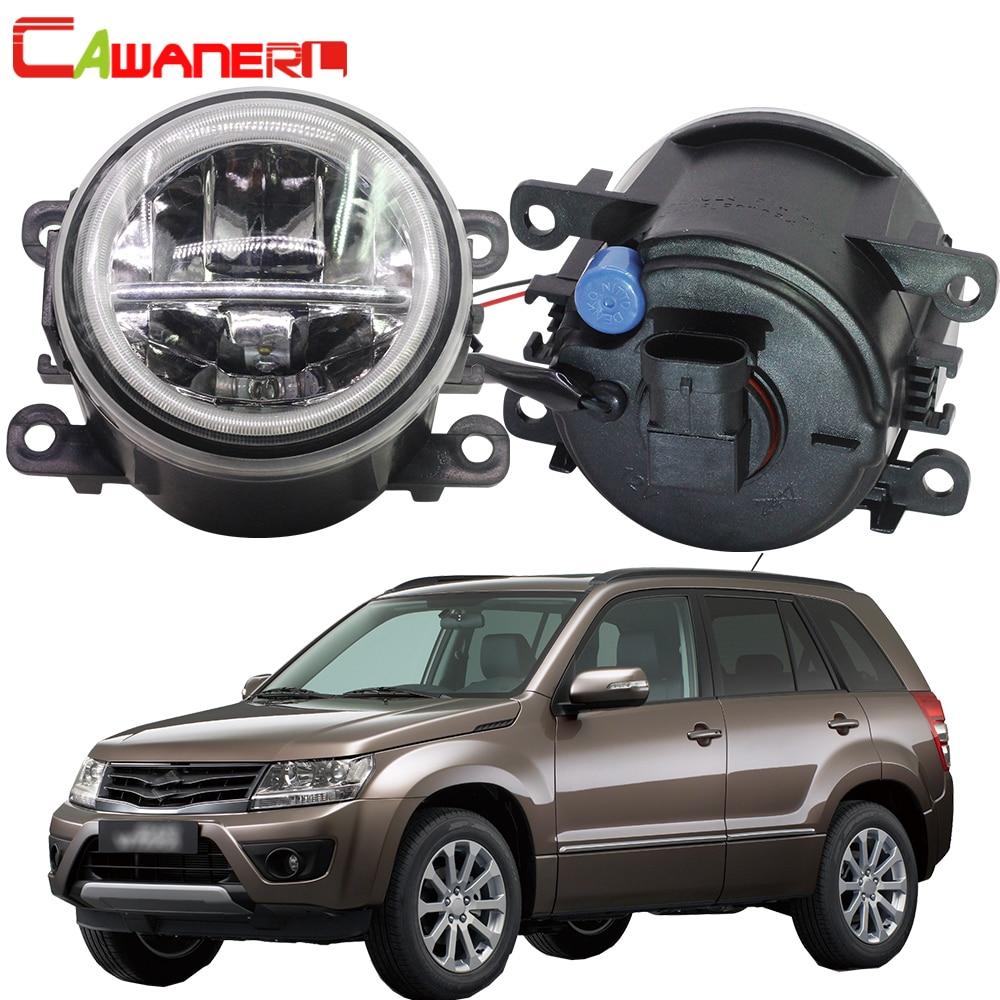 Cawanerl para Suzuki Grand Vitara/2/II JT 2005-2015 4000LM bombilla LED H11 Luz de niebla + Ojo de Ángel DRL luz corriente diurna 12V 12V