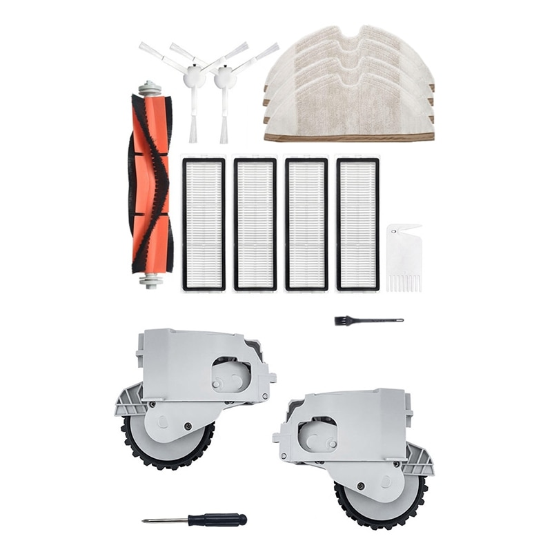 12 قطعة مجموعة أجزاء ل شاومي Mijia 1C اكسسوارات الروبوتية مع ل Mijia 1C الكناسة عجلة مكنسة الاطارات مجموعة اكسسوارات