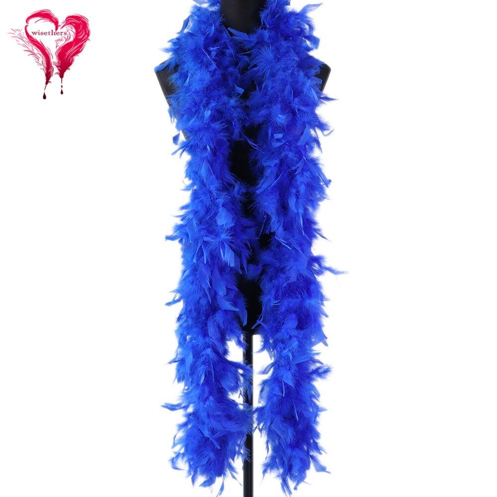 Royal Pluma azul Boa suave pluma de pavo chal vestido de boda carnaval fiesta decorativa 60 gramos/1 Uds