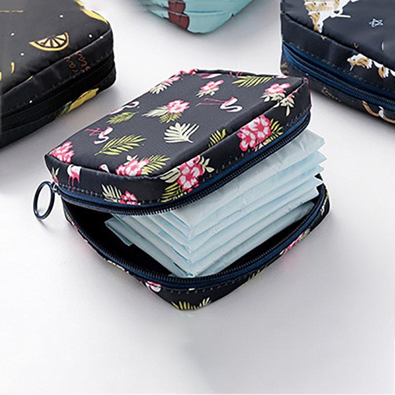 Women Tampon Storage Bag Sanitary Pad Pouch Napkin Cosmetic Bags Organizer Ladies Makeup Bag Girls T