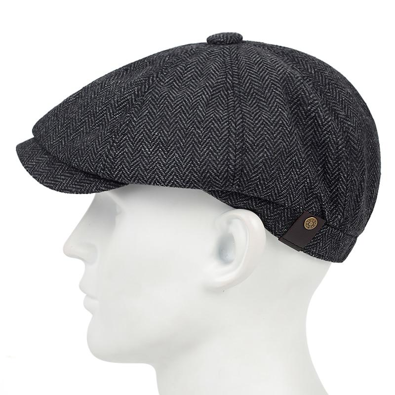 New fashion plaid beret versatile classic with a little elastic hats fashion three beret men's casua