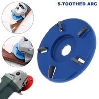 1pc 5 tooth 90mm 16mm wood carving disc tool angle grinder accessories milling cutter fit for woodworking tea tray digging