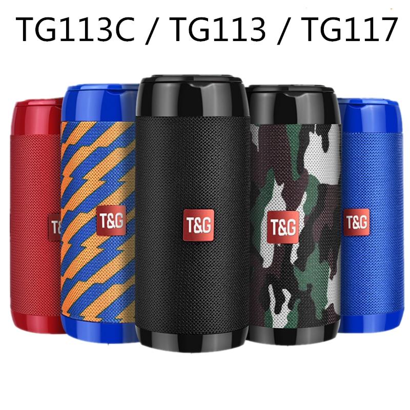 Columna de altavoz portátil TG113C TG117 TG113 Bluetooth, barra de sonido con Radio FM resistente al agua, Subwoofer inalámbrica, lounddpeakers, caixa de som