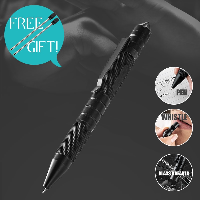 Multi-Function 3-In-1 Tactical Pen Whistle Emergency Self Defense EDC Tool Outdoor Survival Self Rescue Dropshipping