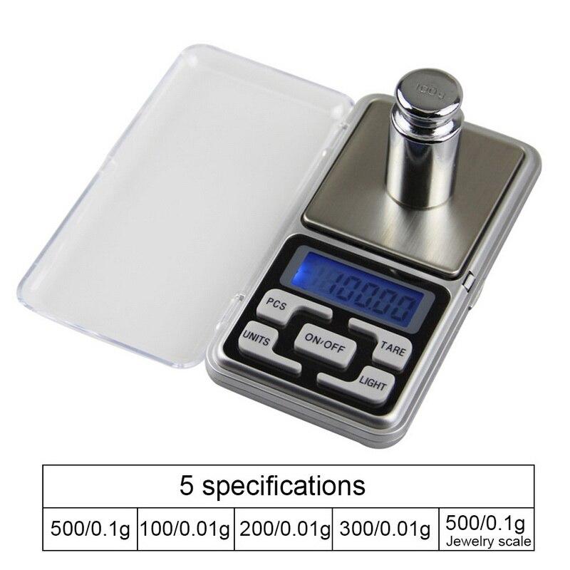 DIDIHOU Eletrônico Digital 0.01g Balança de Bolso de Precisão Escala Jóias Pesando Backlight Escalas para Kitchen100/200/300/500g