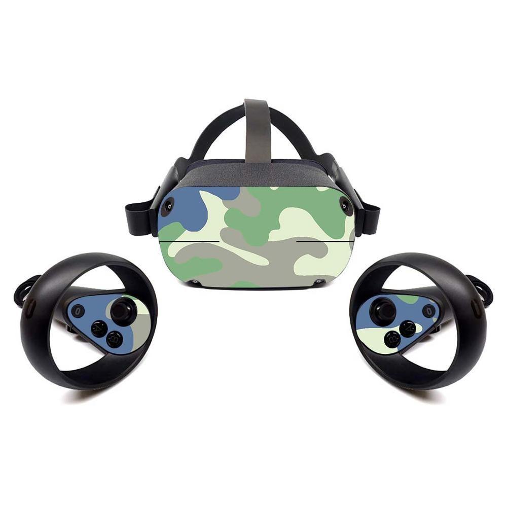 Camuflagem legal camo design vinil decalque adesivo de pele para óculos oculus quest vr
